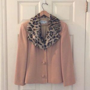 Jackets & Blazers - Italian DesignerJacket with faux leopard collar
